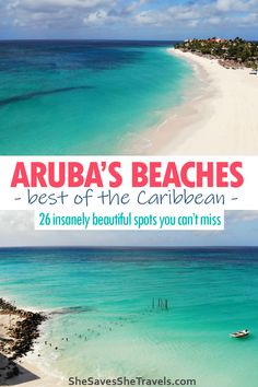 Best beaches in Aruba: from the most popular beaches on the island to the most remote, you gotta see these gorgeous beaches in the Caribbean! Includes all the best sights for couples, families and the most secluded beaches on Aruba. Don't miss # 16! | Aruba Caribbean | Aruba Beaches | Best Beach in Aruba | Aruba Itinerary | Things to Do in Aruba | Caribbean Beaches Best Beach In Aruba, Destin Beach, Beach Trip, Aruba Aruba, Caribbean Vacations, Aruba Caribbean, Tropical Vacations, Beach Vacations, Travel Usa