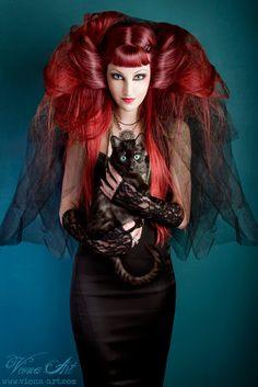 Viona Arts ..black cat