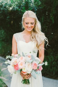 Wedding hair inspiration! Beautiful, barely-there curls   Emily Blake…