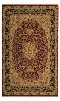 Antiquites Collection Meshed Brick Burgundy Traditional Floral Area Rug