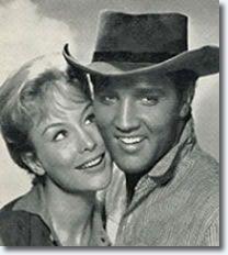 Barbara Eden and Elvis Presley. FLAMING STAR @Marie Cuevas