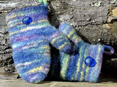 Free Knitting Pattern - Adult Gloves & Mittens: Mad River Felted Mittens