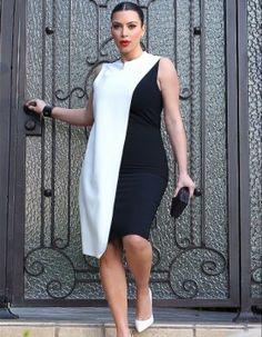 Kim Kardashian en robe Cédric Charlier