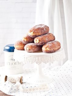 cream pepitos - filled donut with cream and dipped in sugar