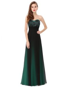 """Mystical Evening Dress is strapless. Padded enough for """"no bra"""" option. Unique bust and ruched waist design. Lining, no stretch. Material - Chiffon & Satin"""