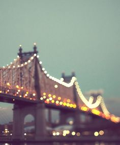 Queensboro Bridge at Night NYC Art New by EyePoetryPhotography, $30.00