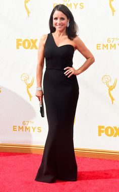 Julia Louis-Dreyfus from 2015 Emmys: Red Carpet Arrivals! You can forgo a necklace if you have the Earrings, Ring, and Bracelet correct. This is an A+ in our book!