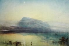 #vintage #Blue #Rigi #Mountain #Watercolor #painting #bookplate #Print by J.M.W. #Turner #evt by OakwoodView
