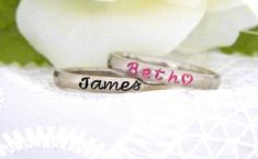 Personalized Stackable Ring Stacking Ring by SnowMountainDesigns
