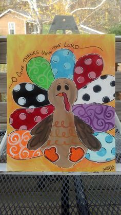 Create In Me KIDS Painting Classes - Nov thoughts on this one? Turkey Painting, Turkey Art, Autumn Painting, Autumn Art, Fall Canvas, Kids Canvas, Canvas Art, Painted Canvas, Canvas Paintings