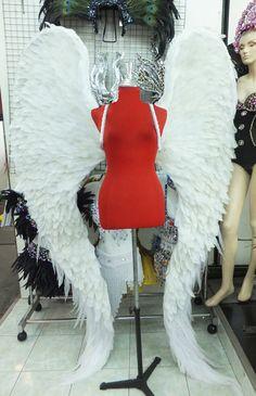 Parade Showgirl Ailes Victoria Secret Model Angel Wings by DaNeeNa Diy Angel Wings, Angel Wings Costume, White Angel Wings, Feather Angel Wings, Angel Costumes, Victoria Secrets, Victoria Secret Wings, Lego Wall, Wings Design