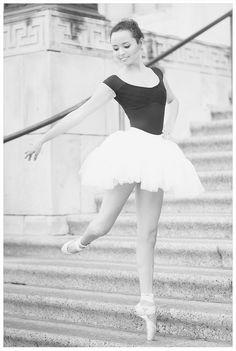 Senior Portrait / Photo / Picture Idea - Girls - Dance / Dancer - Ballet / Ballerina - Steps / Stairs