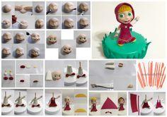 Pentru ca cei mici o indragesc pe #Masha foarte mult :) un #tutorial pentru ea :)) #ustensile modelaj - https://goo.gl/Mfn9aH #pastadezahar - https://goo.gl/mOgcFV SURSA: http://cake.corriere.it/2015/06/04/tutorial-masha/#more-28714
