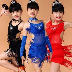 Competition Latin Dance Dress For Girls Samba Dress Ballroom Dancing Dress Girl Dancewear Kids Kid Vestido Baile Latino Girls