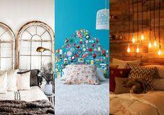 5 cabeceiras de cama criativas para se inspirar