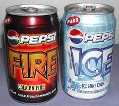 Pepsi Fire & Pepsi Ice Pepsi Fire - Cinnamon flavored. Guam, Saipan…