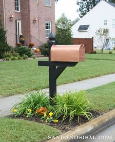how to get the look of copper for less, curb appeal, painting, Copper mailbox makeover
