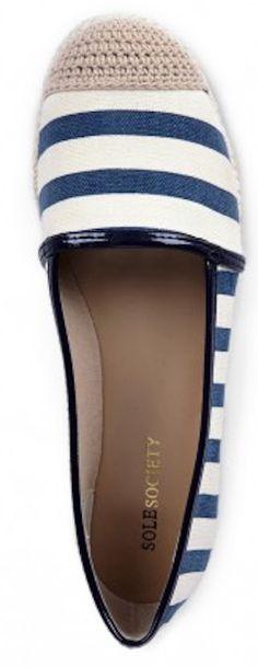 #blue striped canvas espadrilles http://rstyle.me/n/gwq25r9te