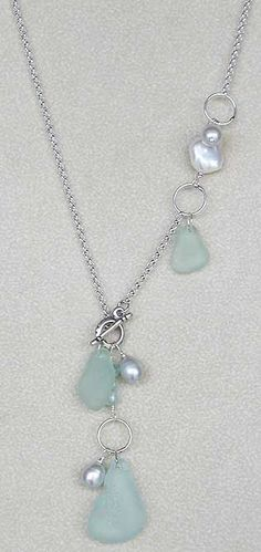 Love the way this seems to cascade. #seaglassjewelry