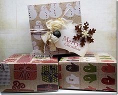 Homemade gift boxes with Martha Stewart Scoring Board. LOVE, LOVE, LOVE!