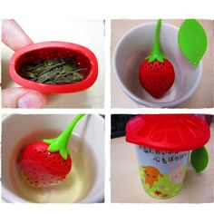 Strawberry Shape Silicone Tea Leaf Infuser /Strainer