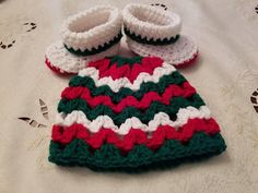 Check out this item in my Etsy shop https://www.etsy.com/listing/547402555/crochet-christmas-baby-hat-and-booties
