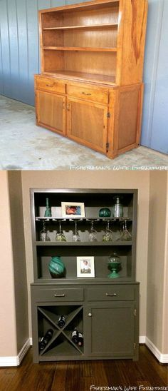 Hutch to Wine Bar Makeover