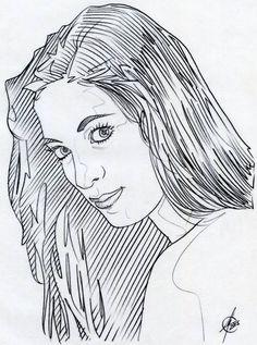 Técnica con lapicero de grafito. Trazo con 0.5 ZEBRA M-301.