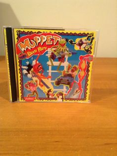 Muppet Beach Party Cd With Lyrics Sheet / Poster Kermit Miss Piggy Jim Henson