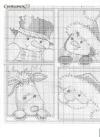 6 plastic canvas ornaments, chart, page 2/3