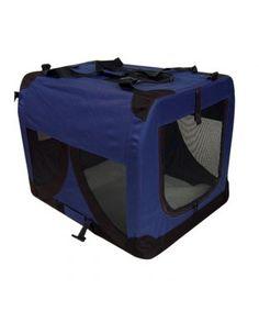 Portable Soft Pet Kennel Blue L - Blue