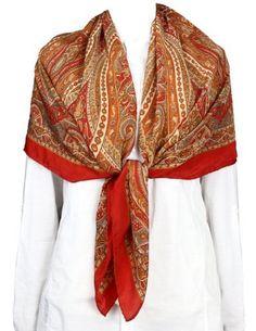 Hand Painted Square Silk Scarf Women Accessories Indian Clothing ShalinIndia, http://www.amazon.co.uk/dp/B00EIFQ354/ref=cm_sw_r_pi_dp_X7Rksb1CGADAF