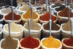 For authentic Indian cuisine, you can't go wrong with cumin, coriander, brown mustard, turmeric, cinnamon, cardamom or spicy red chilli pepper.