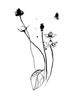 Toril Bækmark: Black flowers, series for exhibition at Cinnober Copenhagen