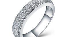 wedding rings for women white gold image