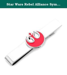 """Star Wars Rebel Alliance Symbol Tie Bar Novelty 2 x 0in. Approximately 2"""" By 3/8"""", Plated Base Metal And Enamel,? Sliding Tie Bar,Officially licensed by Lucasfilm."""