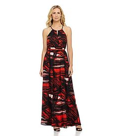 Gibson and Latimer Brushed Stripe Maxi Dress #Dillards