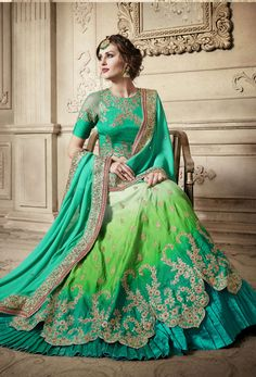 Shop sea green satin indian lehenga saree for engagement , freeshipping all over the world , Item code Lehenga Style Saree, Lehenga Choli Online, Indian Lehenga, Bridal Lehenga, Lengha Choli, Lehenga Blouse, Pakistani, Lehenga Design For Engagement, Wedding Lehenga Designs
