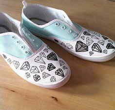 DIY diamond sneakers tutorial