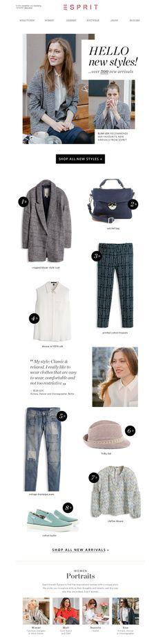 #newsletter Esprit 04.2014  Over 500 new styles! Let's go shopping!