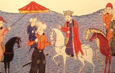 Abaqa on a horse. His son Arghun stands beside him under a royal umbrella, with his own son, Ghazan, in his arms. Rashid al-Din, early 14th century. Abaqa Khan (1234–1282), also Abaga or Abagha Khan, was the second Mongol ruler (Il-khan) of the Persian Ilkhanate. The son of Hulagu Khan and Yesuncin Khatun, he reigned from 1265–1282 and was succeeded by his brother Tekuder Khan.