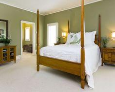 green bedroom pine furniture