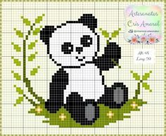 18 Ideas Knitting Charts Panda Perler Beads For 2019 Mini Cross Stitch, Cross Stitch Heart, Cross Stitch Alphabet, Cross Stitch Animals, Cross Stitching, Cross Stitch Embroidery, Embroidery Patterns, Cross Stitch Cushion, Cross Stitch Pictures