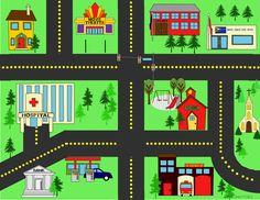 Operation Shoebox, Felt Play Mat, Maps For Kids, Transportation Theme, Operation Christmas Child, Tot School, Busy Book, City Streets, Diy Toys