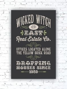 WICKED WITCH Real Estate  Wizard of Oz spoof by LeMonkeyHouse, $20.00