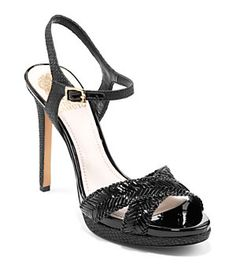 Vince Camuto Camryn Woven-Leather Sandals