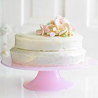 BHG's Newest Recipes:Orange Chiffon Cake with Marshmallow Flowers Recipe