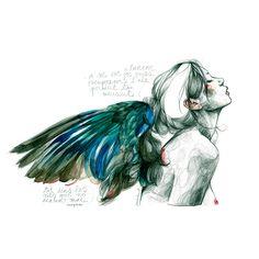 Paula Bonet illustration ~ Les nits que no acaben mai Art And Illustration, Paula Bonet, Art Watercolor, Arte Sketchbook, Foto Art, Art Graphique, Art Inspo, Painting & Drawing, Art Reference