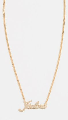 Maison Irem J'Adore Necklace | SHOPBOP 90s Jewelry, Jewelry Accessories, Necklace Online, Necklace Designs, Gold Necklace, Bangs, Black Friday, Style, Products