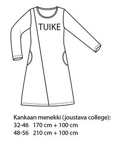 PDF Naisten mekko 32-56 ⋆ Jujuna Athletic Tank Tops, Anna, College, Crafts, Sewing, Projects, Women, Fashion, Log Projects